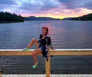 colorful, kimono, and lake image