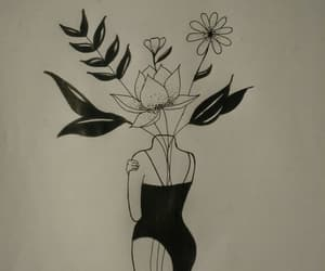 amor, drawing, and flores image