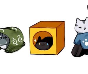 cats, neko atsume, and game image