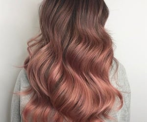 hair, style, and rose gold image