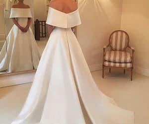 wedding dress, dress, and style image