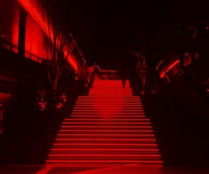 aesthetic, red, and black image