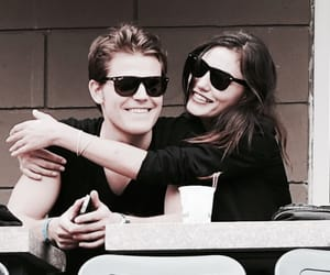 phoebe tonkin, paul wesley, and stefan salvatore image