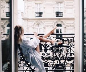 girl, paris, and morning image
