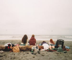 beach, friends, and memories image