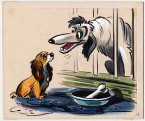 1950s, 50s, and lady and the tramp image