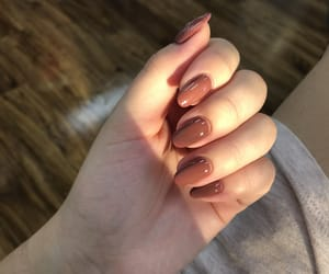 beige, nails, and Nude image