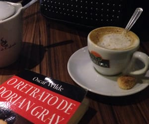 books, coffee, and dorian gray image