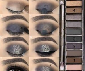 eyes, makeup, and steps image