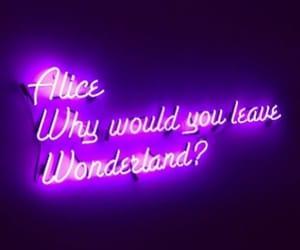 wonderland, alice, and purple image