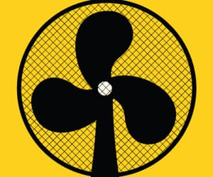 fan, gif, and yellow image