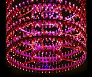 chandelier, fuschia, and pink image