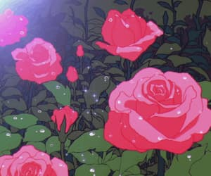 gif, rose, and anime image