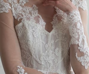 beautiful, bridal, and lace image