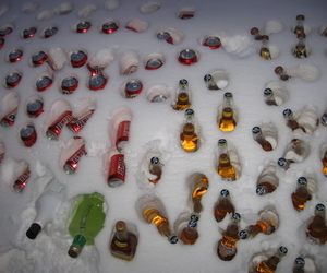 beer, snow, and alcohol image