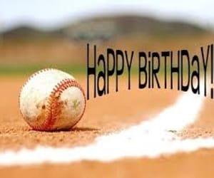 baseball, birthday, and b-day image