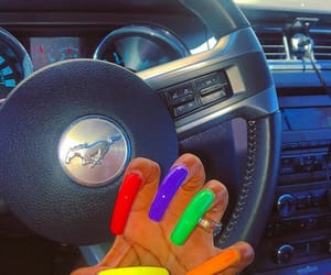 car, rainbow, and colors image