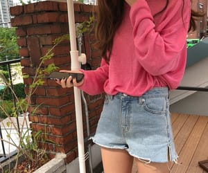 kfashion, korean, and pink image