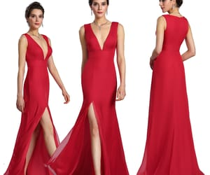 party dress, red, and bridesmaid dress image