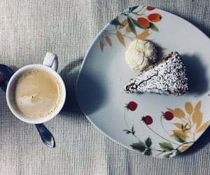 breakfast, cakes, and coffee image
