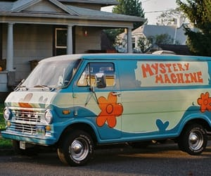 mystery machine, scooby doo, and van image
