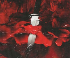 red, aesthetic, and knife image