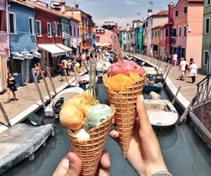 ice cream, summer, and traveling image