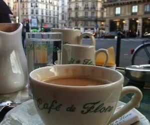 coffee, paris, and cafe image