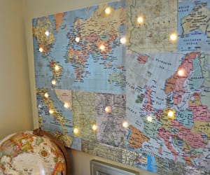 aesthetic, diy, and map image