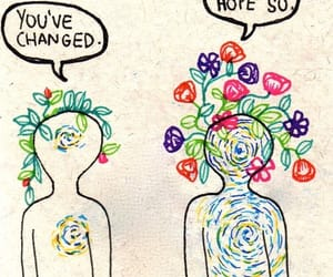 change, flowers, and quotes image