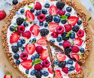 blueberries, strawberry, and sweet image