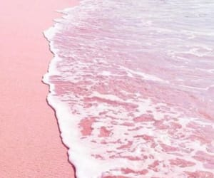 pink and beach image
