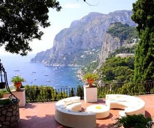 beach, capri, and italy image
