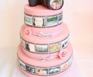 cake, pink, and camera image