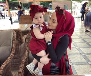 baby, baby girl, and hijab image