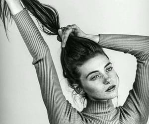 girl, black and white, and model image