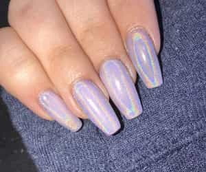 nails, tattoo, and holographic image