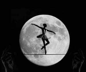 full moon ballerina and tightrope moon dance image