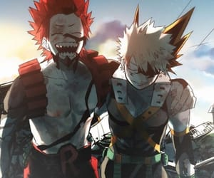 boku no hero academia, kirishima, and bakugou image