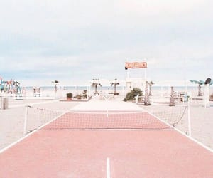 beach, pink, and tennis image