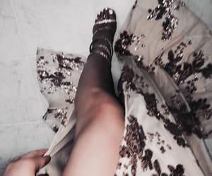 beautiful, dress, and glitter image