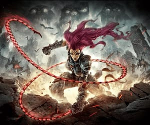 4 horsemen, darksiders art, and playstation game art image