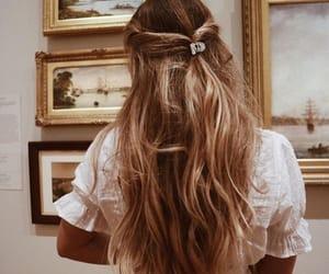 hair, girl, and art image