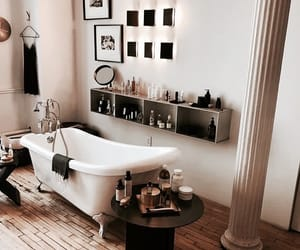 interior, bathroom, and design image