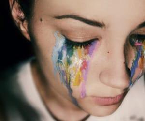 arco iris, tristeza, and llorar image