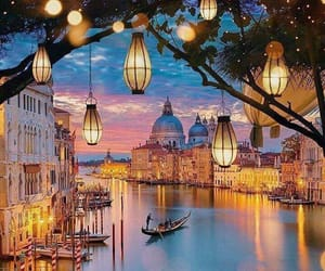 evening, italy, and venice image