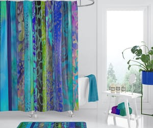 batik, bathroom ideas, and beautiful shower image