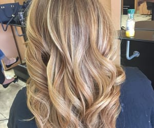 curly, haircut, and highlights image