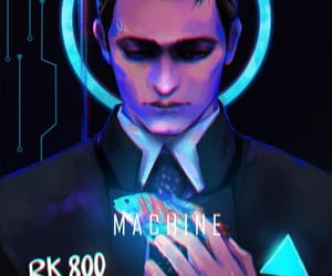 detroit become human, Connor, and dbh connor image