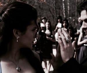 the vampire diaries, damon, and elena image